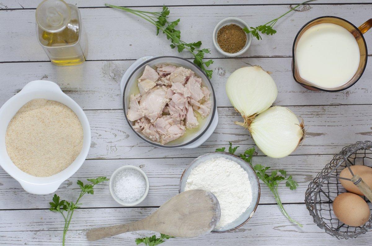 Ingredientes para hacer croquetas de bonito