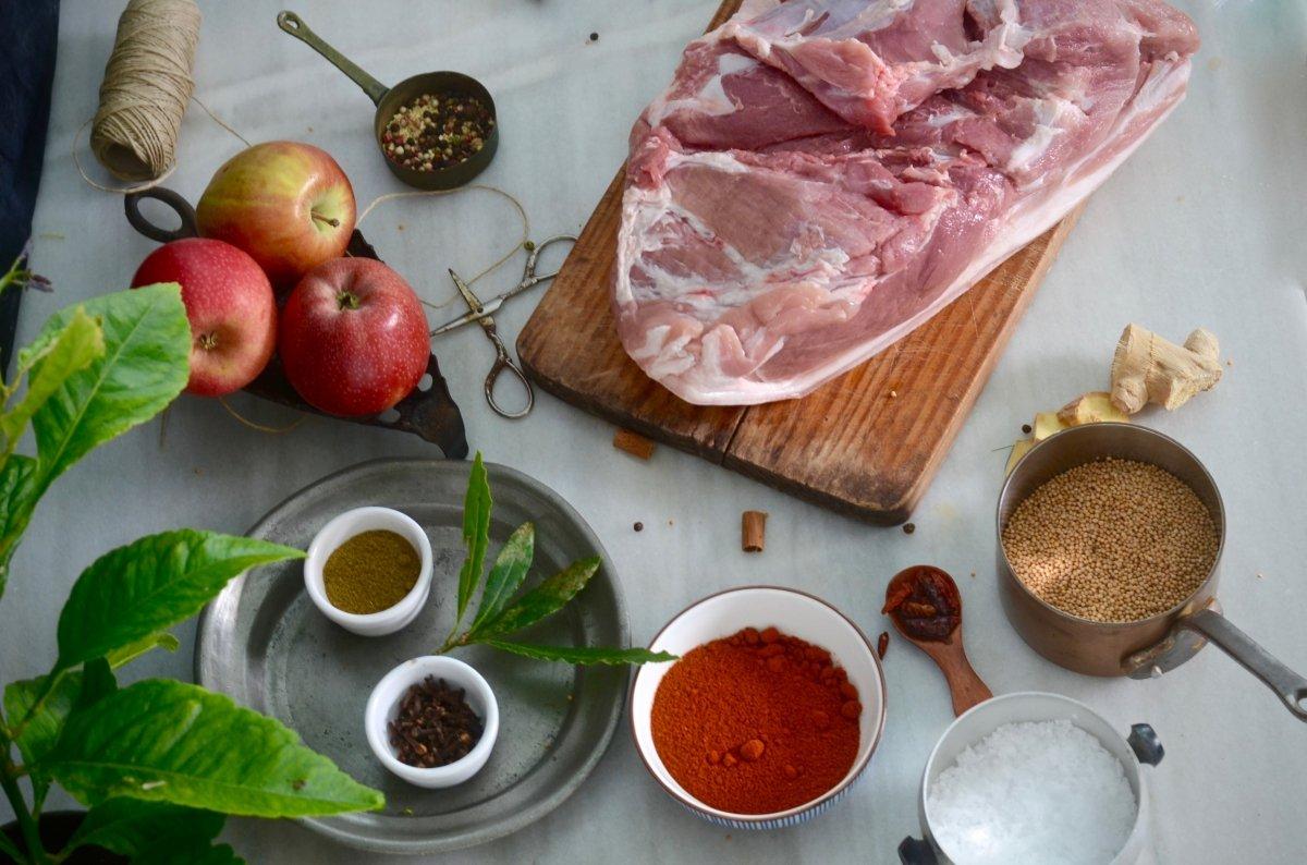 Ingredientes para hacer el pulled pork