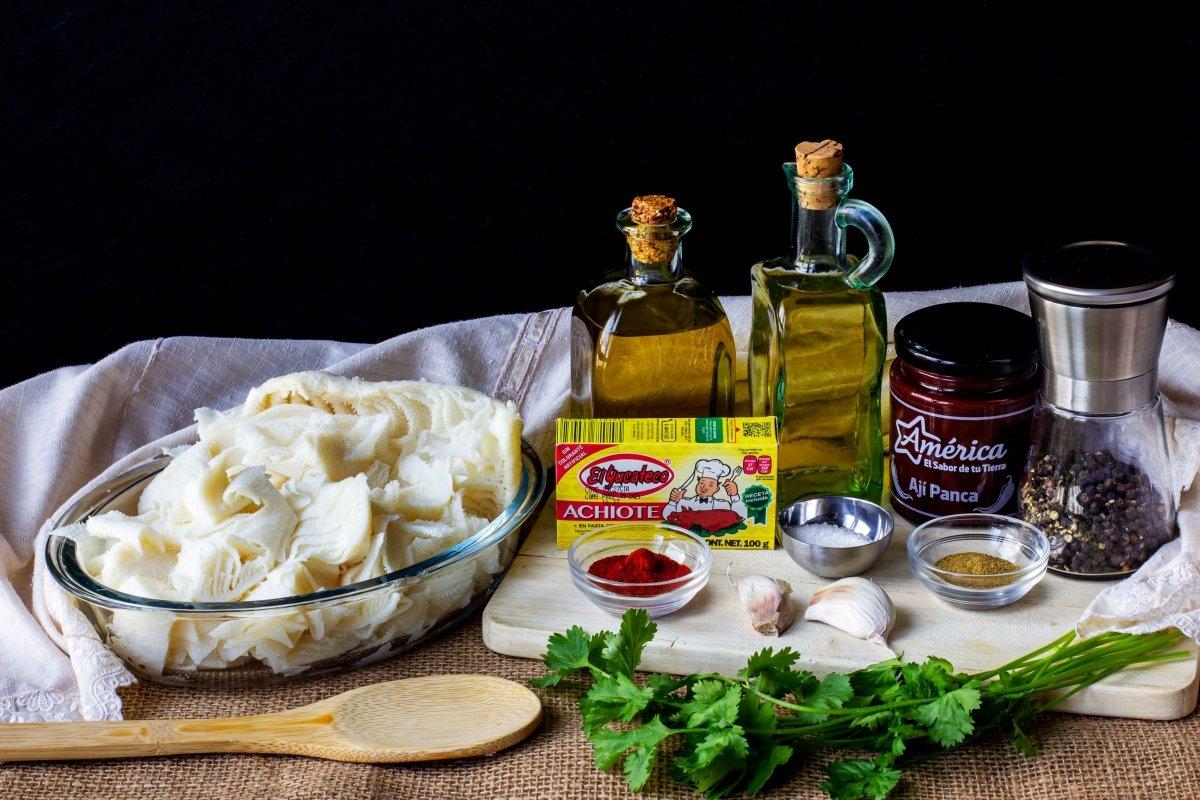Ingredientes para hacer el rachi peruano