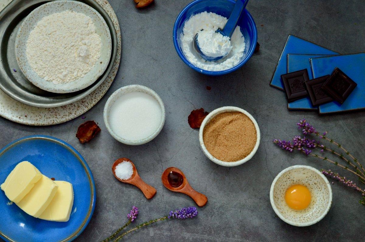 Ingredientes para hacer galletas de pistola