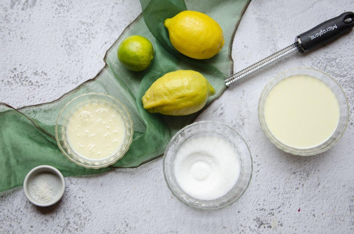 ingredientes para hacer helado de limón