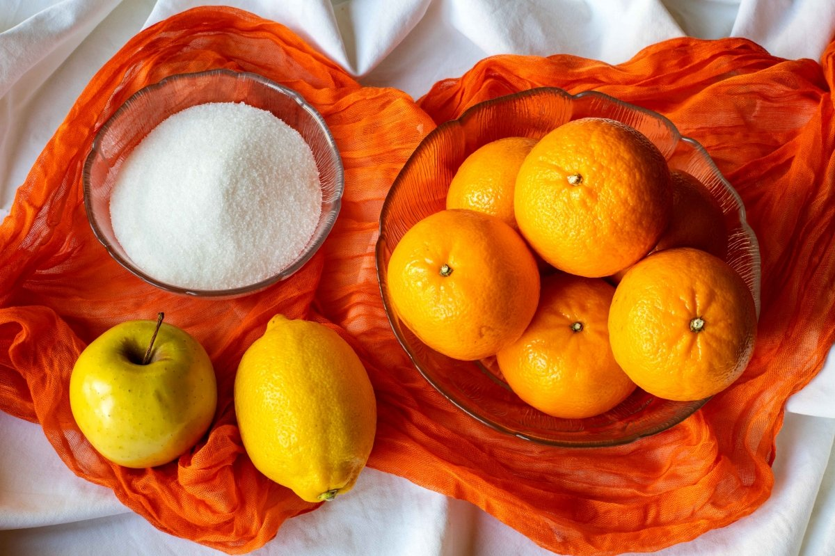 Ingredientes para hacer la mermelada de mandarina