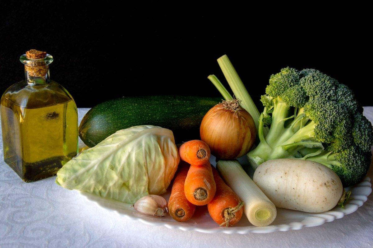 Ingredientes para hacer la sopa de verduras