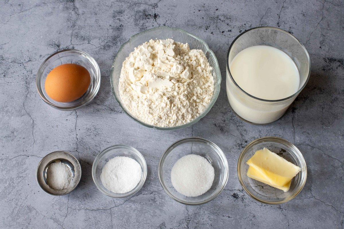 Ingredientes para hacer las arepas andinas