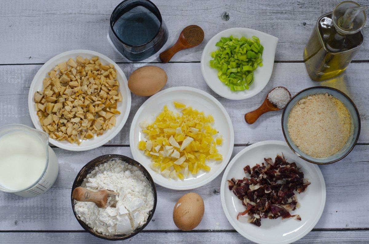 Ingredientes para hacer las croquetas