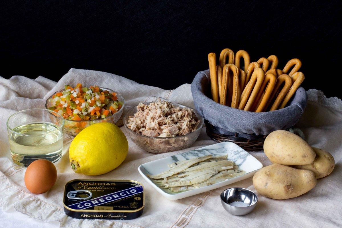 Ingredientes para hacer las marineras murcianas