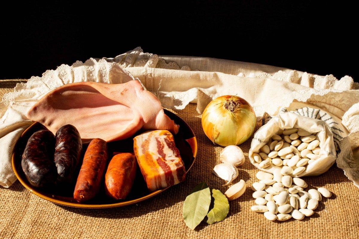 Ingredientes para hacer los judiones de La Granja