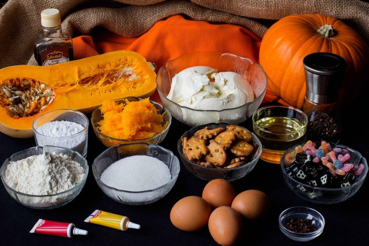 Ingredientes para la tarta de Halloween
