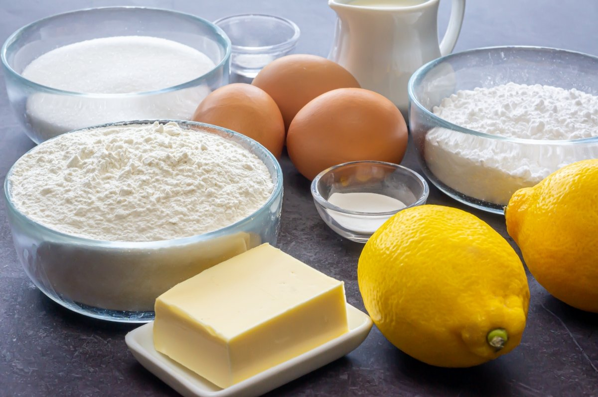 Ingredientes para los bizcochitos de limón