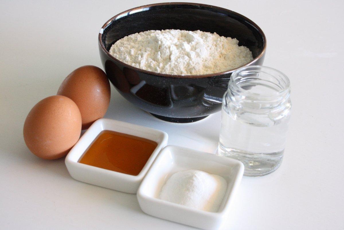 Ingredientes para los dorayakis