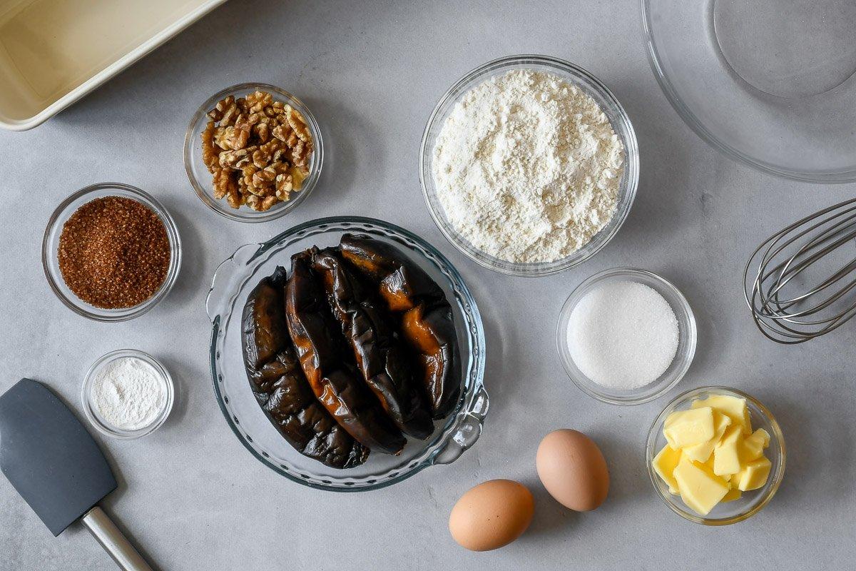 Ingredientes para preparar banana bread