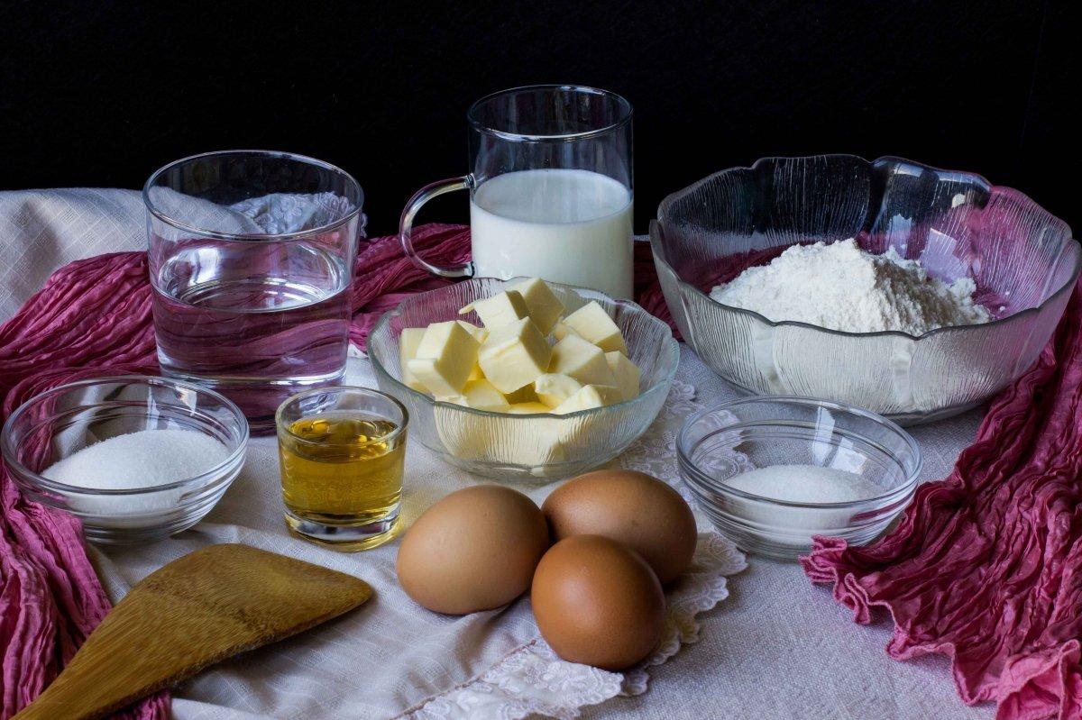 Ingredientes para preparar el babá al ron