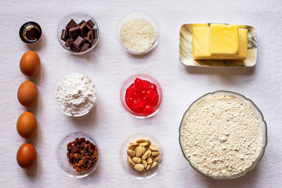 Ingredientes para preparar las pastas de té