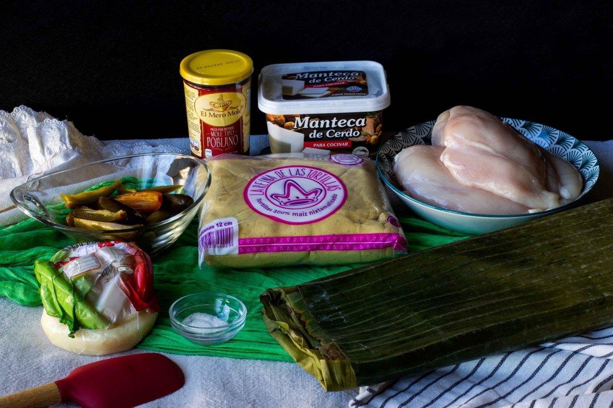 Ingredientes para preparar los tamales