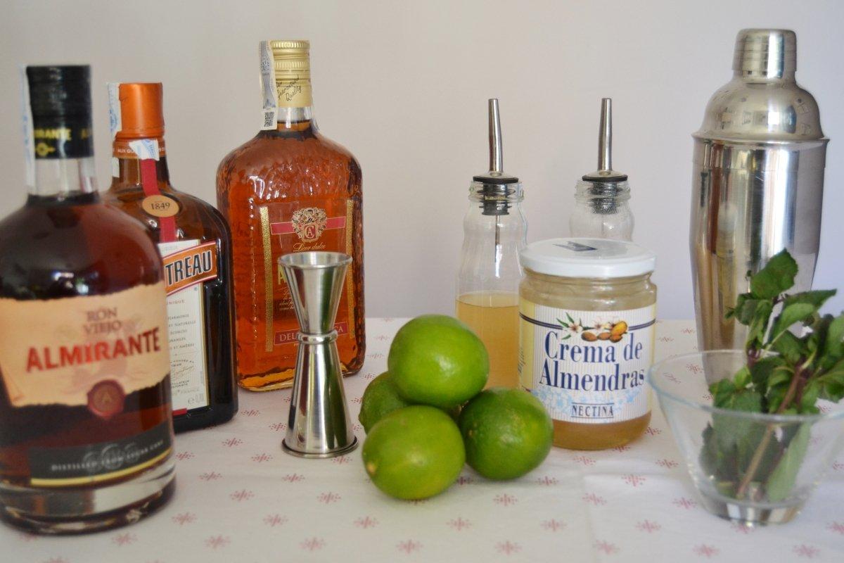 Ingredientes para preparar un Mai Tai