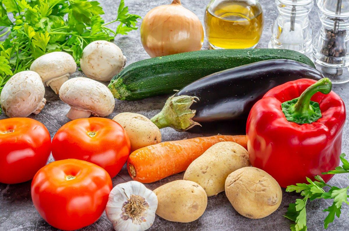 Ingredientes para verduras al horno