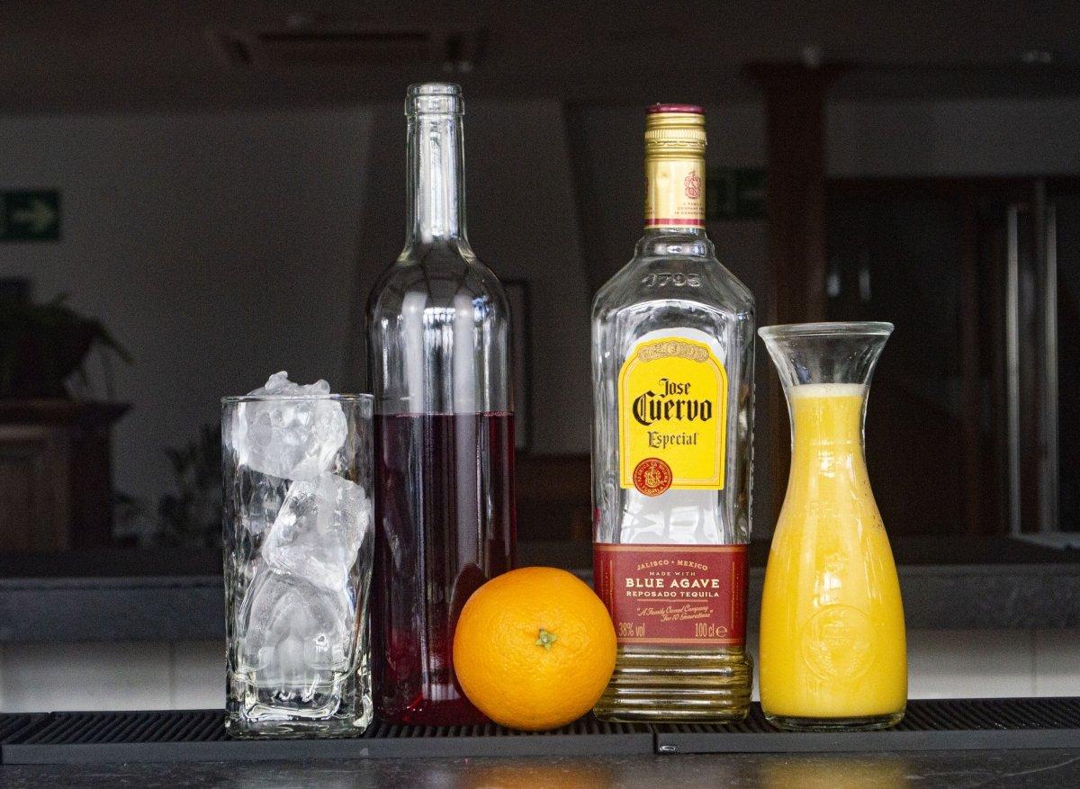 Ingredientes del Tequila Sunrise