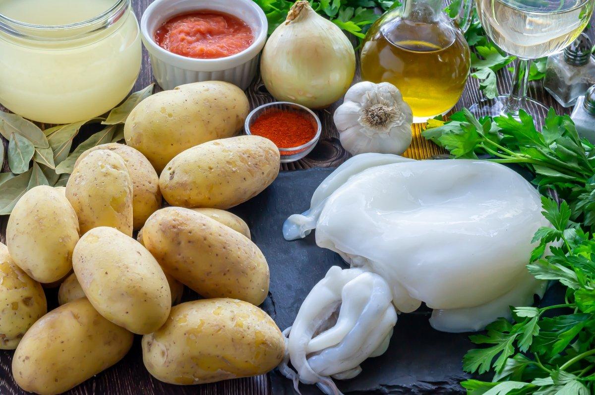 Ingredients de las papas con choco