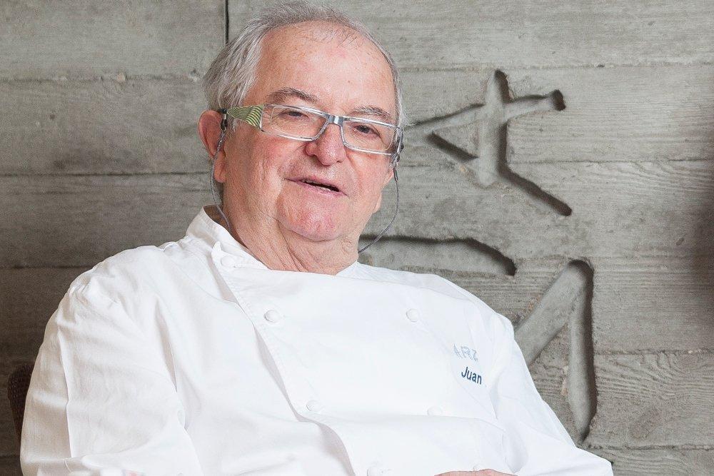 Juan Mari Arzak en su restaurante