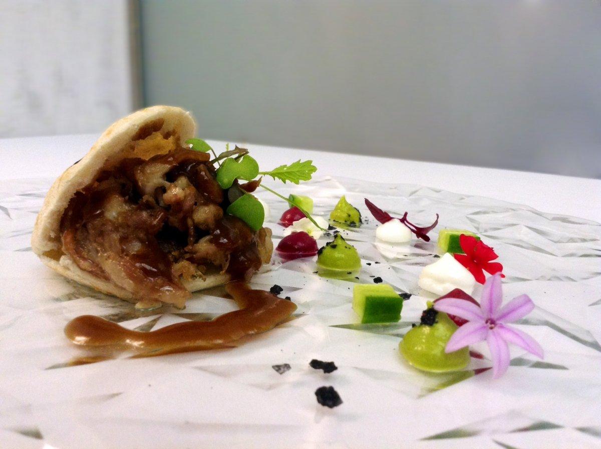 Kebab del restaurante La Prensa de Zaragoza
