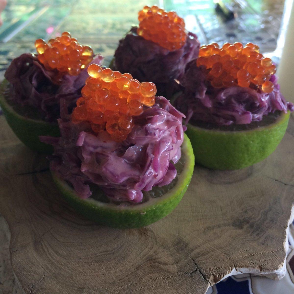Kimchee de ahumados del restaurante Arara