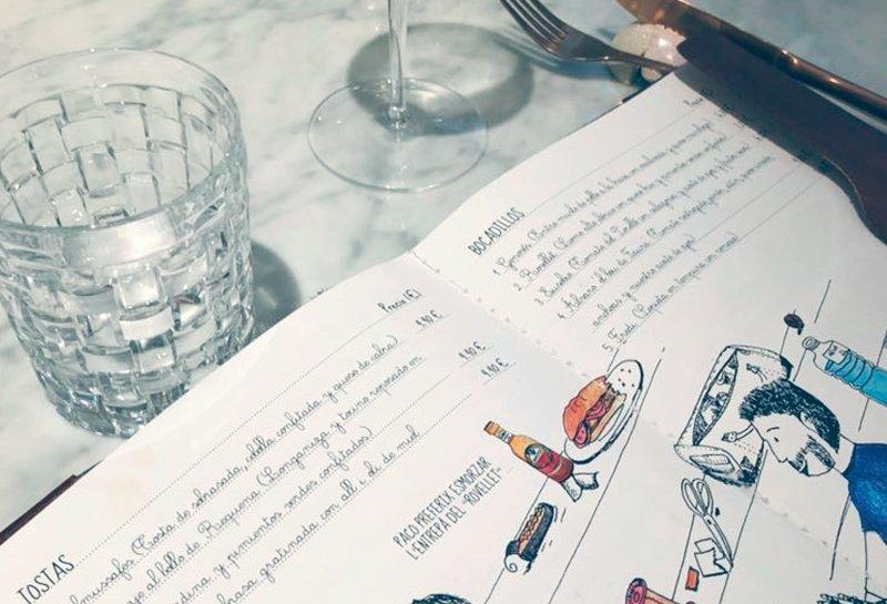La carta de Gastro Trinquet Pelayo