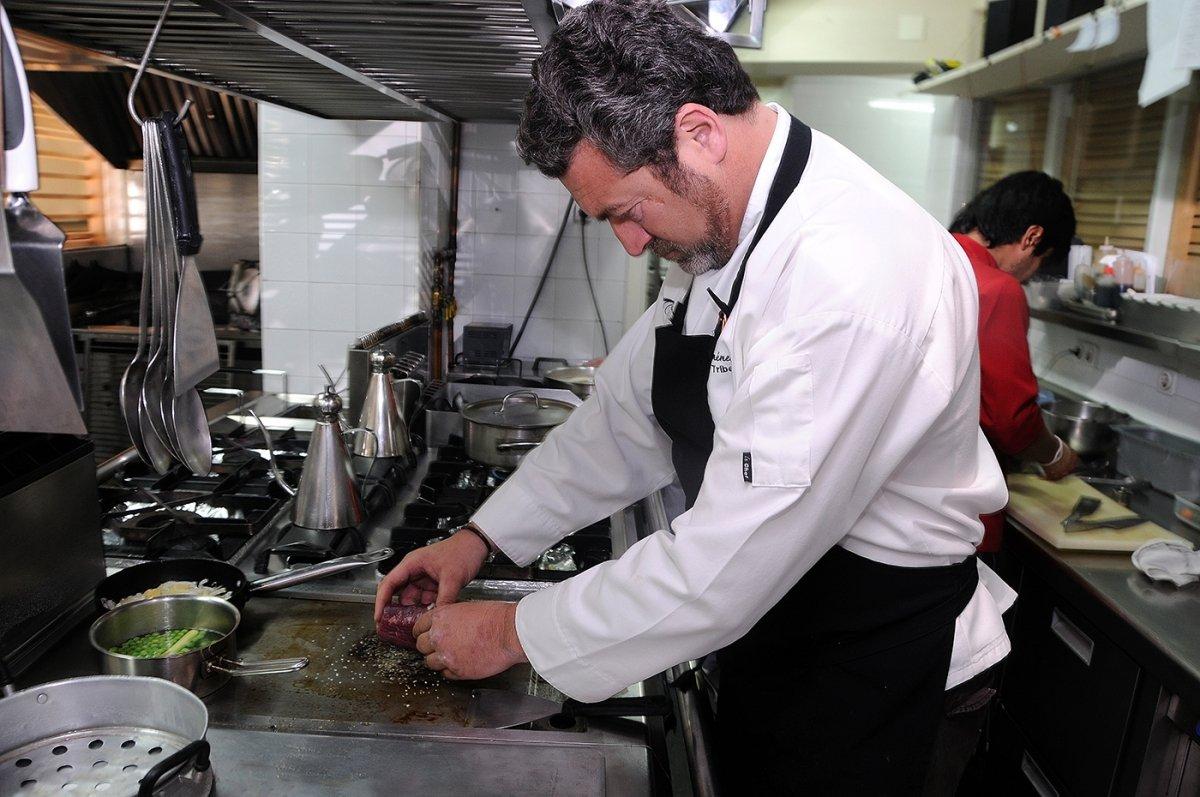 La cocina del restaurante Tribeca de Sevilla