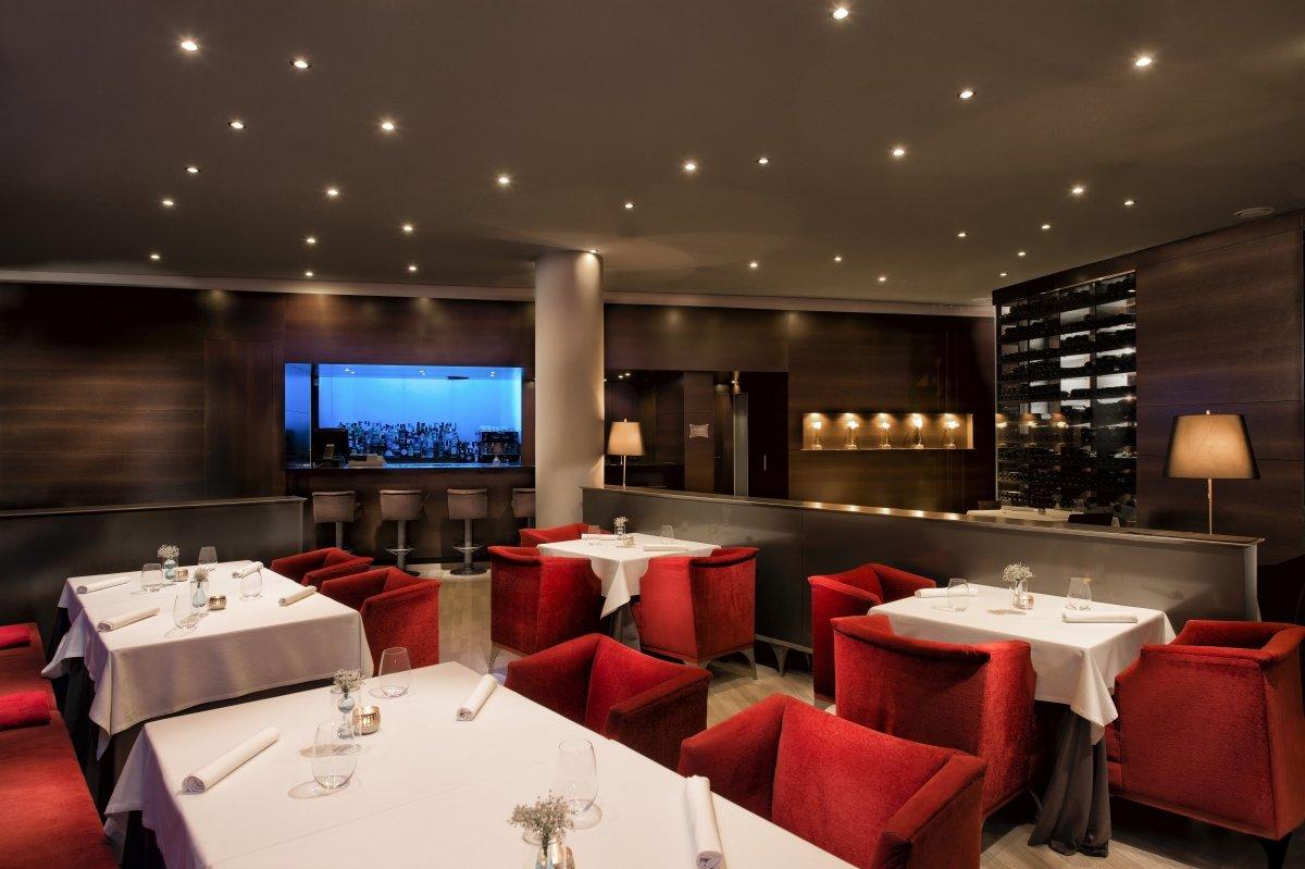 La elegante sala del restaurante Messina