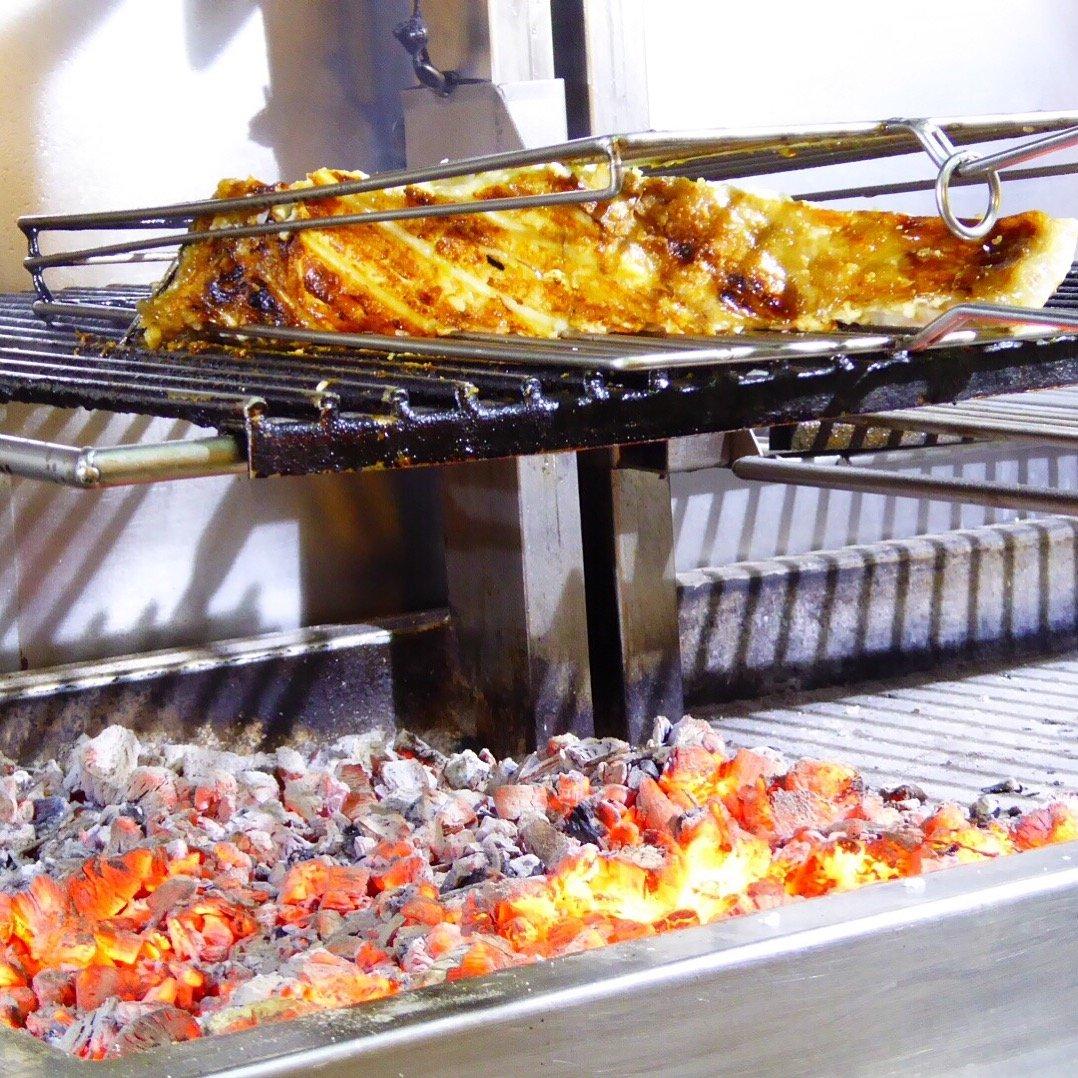 La parrilla del restaurante Güeyu Mar de Ribadesella