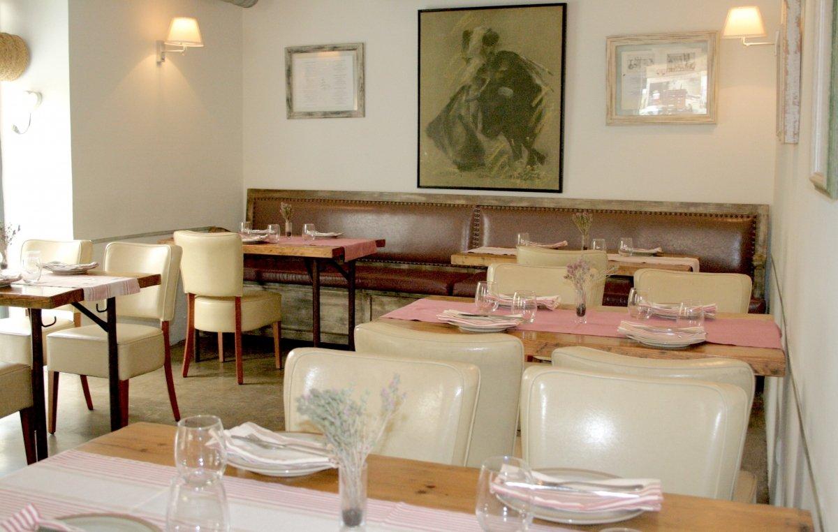 La sala del restaurante La Cosmopolita