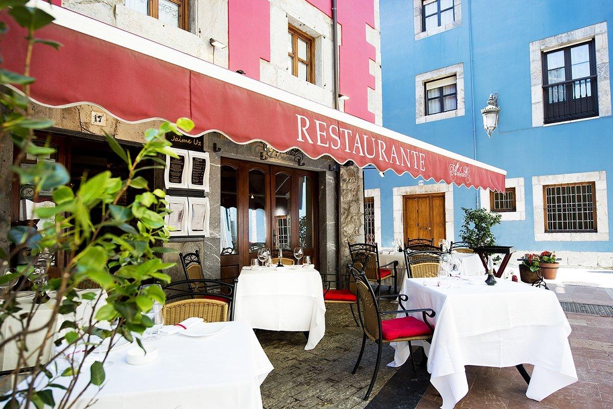 La terraza del restaurante Arbidel