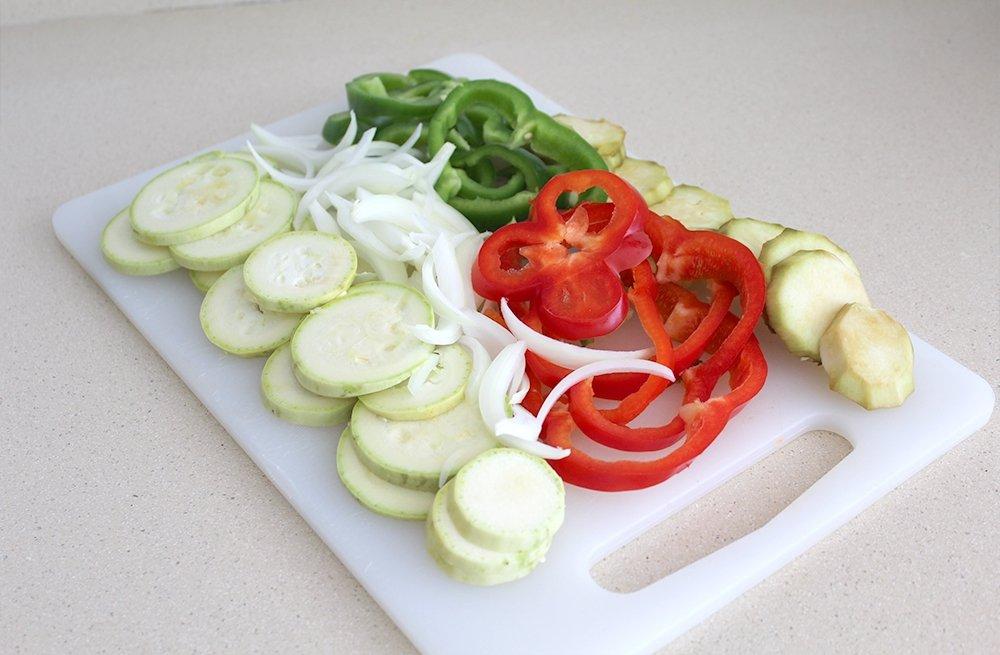 Las verduras de la coca de verduras preparadas
