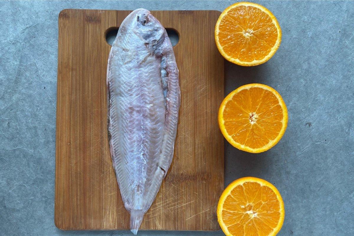 Lenguado a la naranja ingredientes