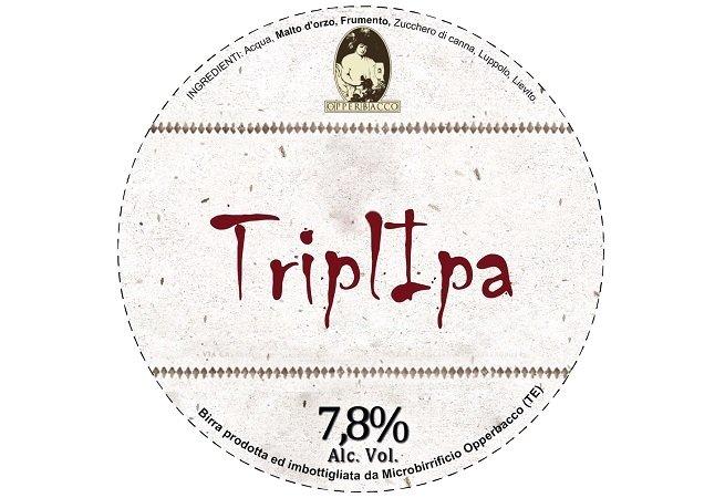 Logotipo circular de Opperbacco TriplIPA