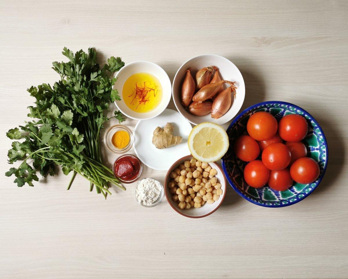 Los ingredientes de la harira.