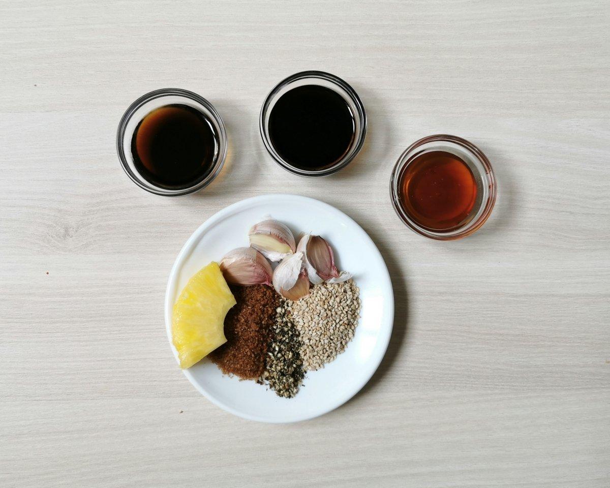 los ingredientes de la marinada del bulgogi