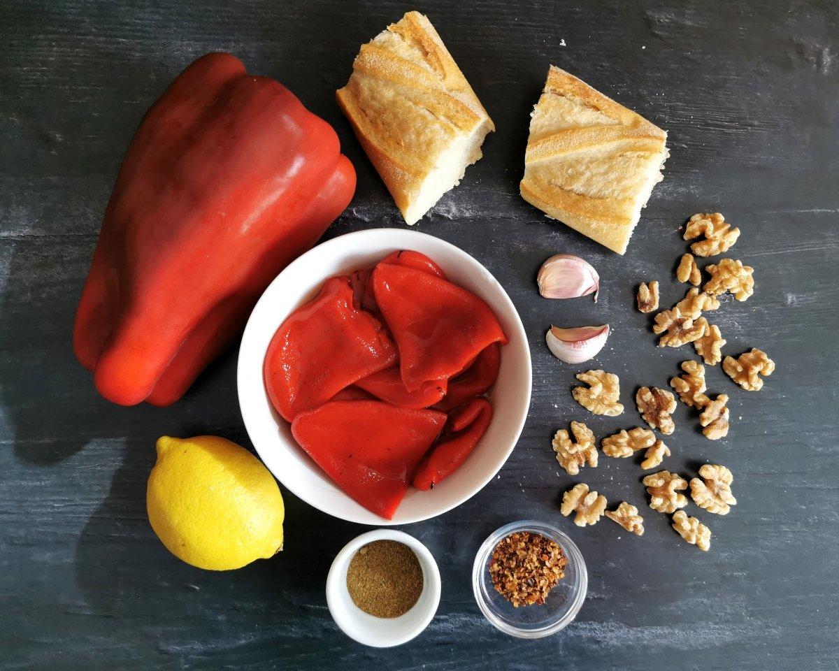 Los ingredientes de la Muhammara