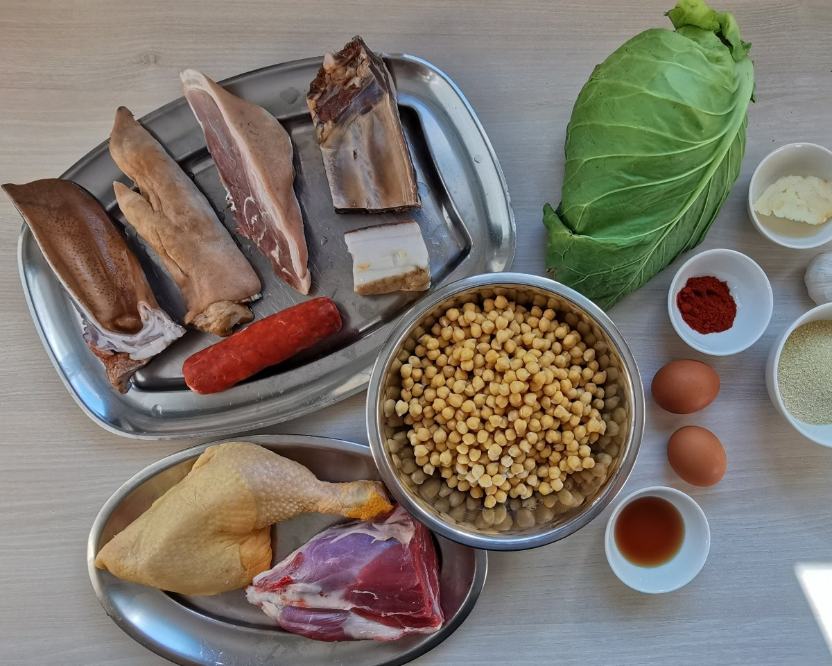 Los ingredientes del cocido maragato
