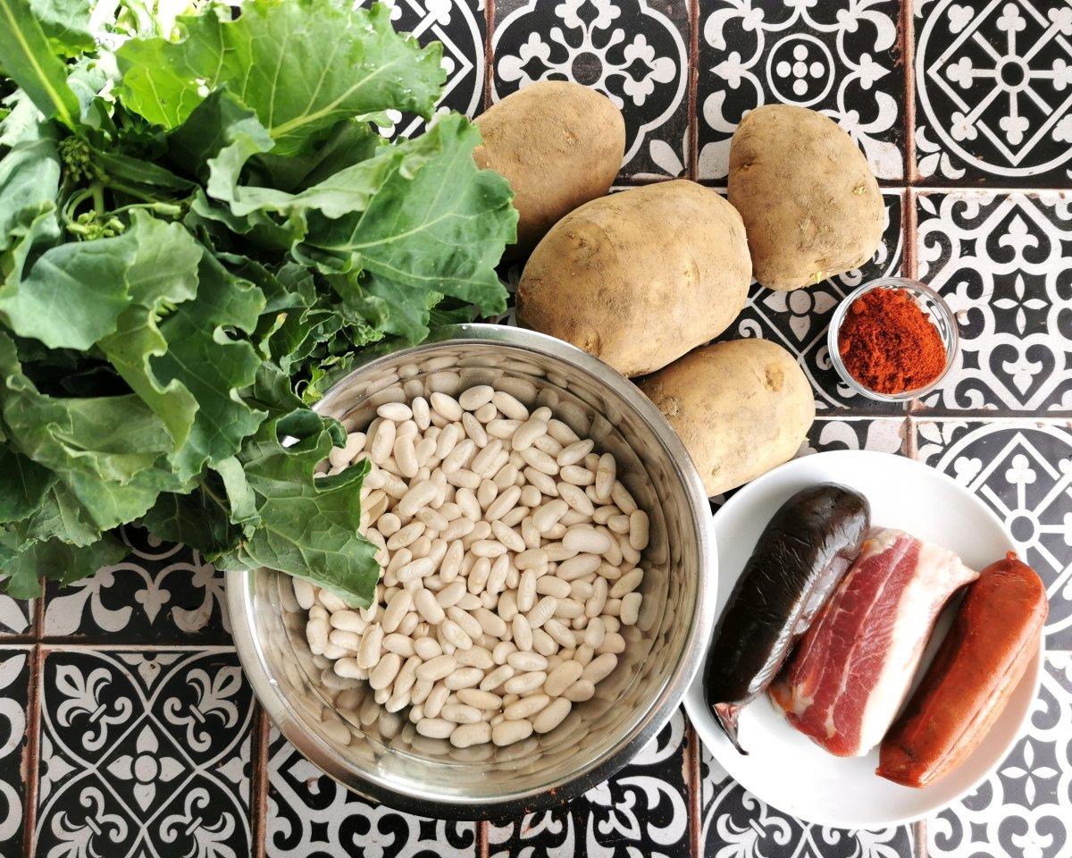 Los ingredientes del pote asturiano