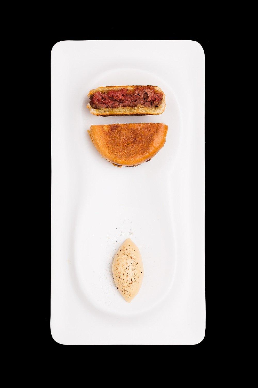 Mc Foie, ambuerguesa de buey con ganaché de foie gras del restaurante ENA by Carles Abellán