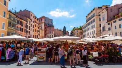Mercato Campo dei Fiori, un festival de olor y sabor en Roma