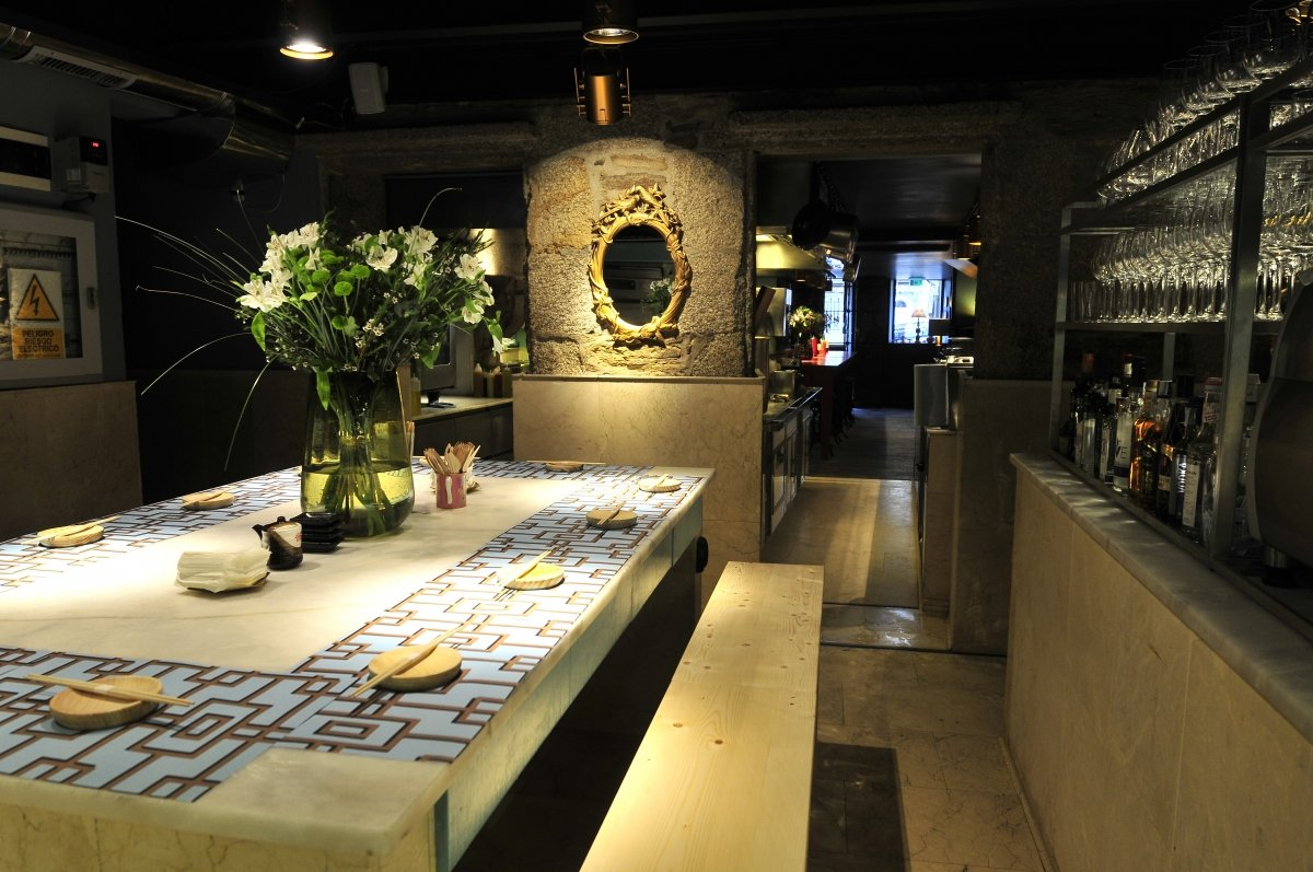 Mesa para compartir del restaurante Casa Marcelo