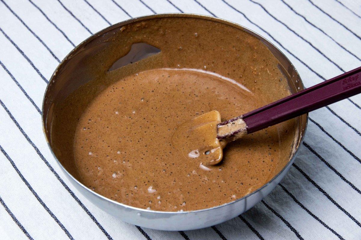 Mezcla prearada de mousse de chocolate para la tarta
