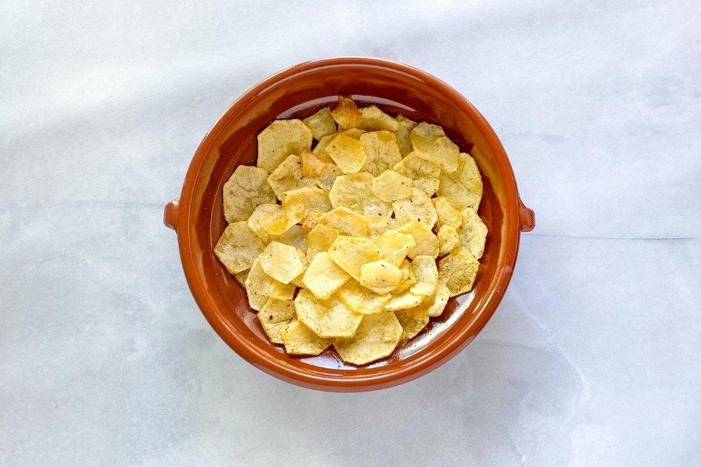 Montar el tumbet por capas empezando por las patatas