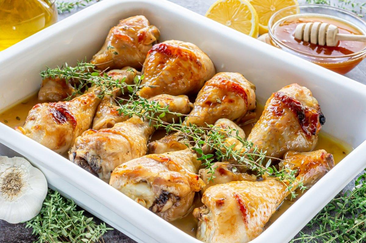 Muslos de pollo a la miel