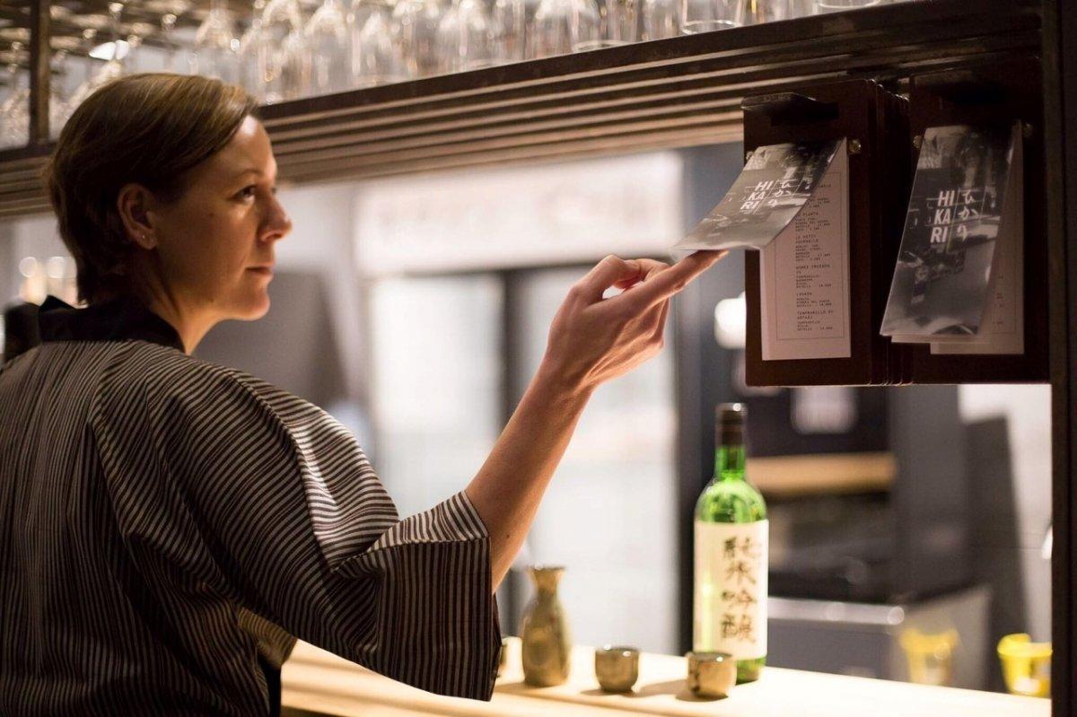 Nuria Morell en el Hikari Yakitori Bar