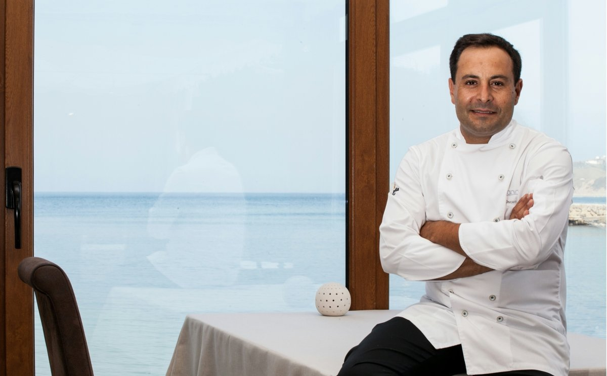 Óscar Calleja en su restaurante Annua