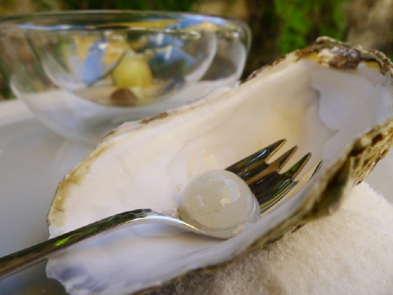 Ostra en el restaurante Sa Pedrera d'es Pujol