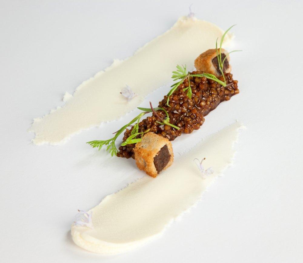 Otro de los platos del restaurante Azurmendi Gastronómico
