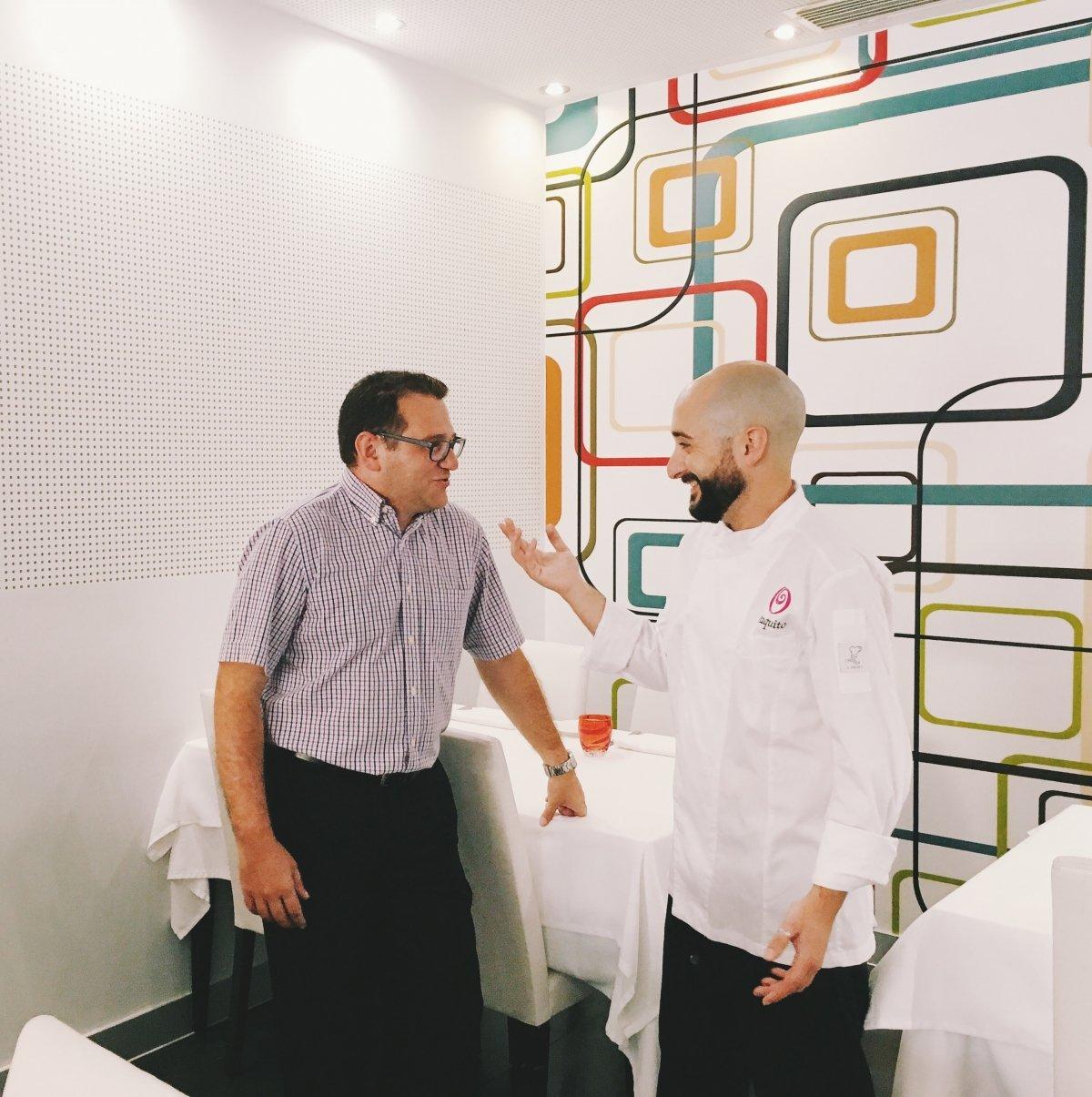 Paco y Jaume, responsables del restaurante K-anròs